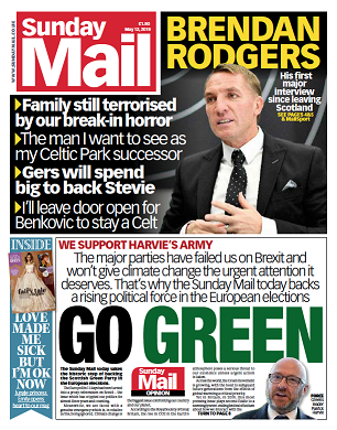 Sunday Mail endorses Scottish Greens