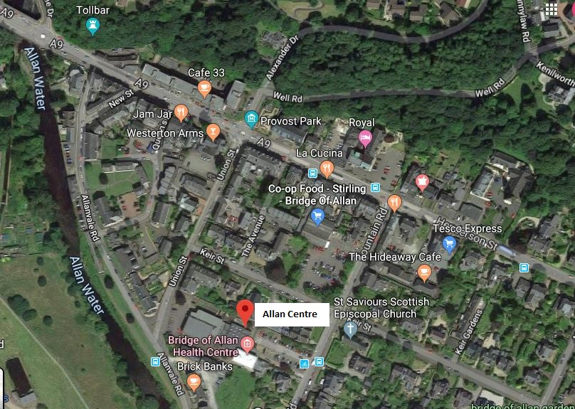 Map of Allan Centre location